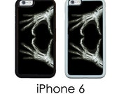iPhone 6S 6 or PLUS Xray Heart Phone Case  X Ray Love skeleton Hands Trim Choice Hard Case , Rubber or Mighty Case