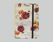 Kindle Cover Hardcover, Kindle Case, eReader, Kobo, Kindle Voyage, Kindle Fire HD 6 7, Kindle Paperwhite, Nook GlowLight French Post Flowers