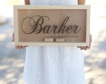 Personalized Wine Cork Keeper Custom Wedding Gift Rustic Barn Wedding Bridal Shower Present (Item Number WAMHD1011)