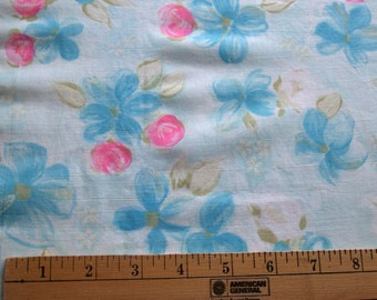 3.25 yards VTG fabric: Cotton Voile