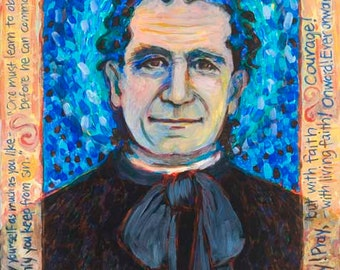 Saint John Bosco - Patron of Boys and Girls - Children - Gang Members - Patron of Youth - Fine Art Print - Catholic Art