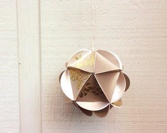 Large Geometric Holiday Ornament, Gold Metallic
