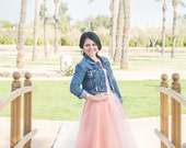 Peach Serendipity Tulle Skirt