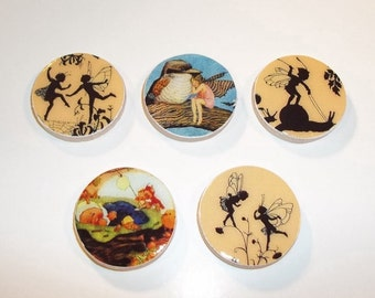 Fairy-Fairies-Silhouettes Magnet Set--Magnets
