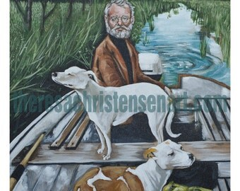 """11""""x14"""" Royal Tenenbaums Goodfellas Inspired Print - Raleigh as white haired man in Tommy's Mother's Painting"""