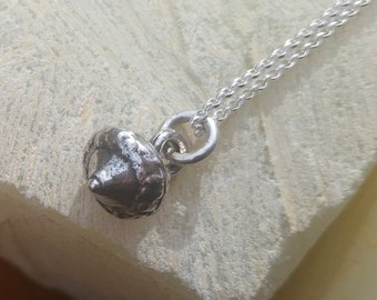 sterling acorn pendant  ~ delicate layering pendant ~ minimalist jewelry ~ Nature Inspired