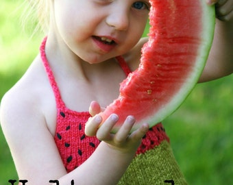 Pdf knitting pattern for summer, halter top for children