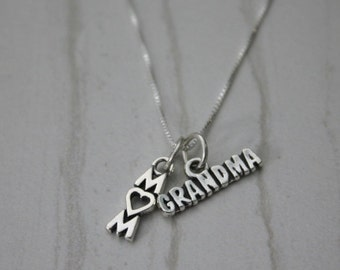 Mom and Grandma Sterling Silver Necklace