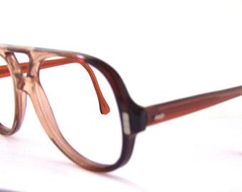 1970s Mens Eyeglasses // 70s Vintage Frames // American Optical // Aviator style/ flexi fit