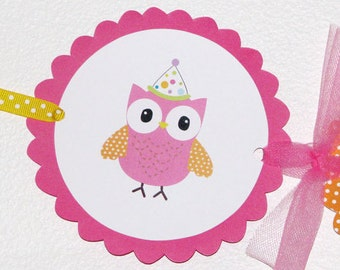 Colorful Owl Happy Birthday Banner Owl Birthday Party Owl Banner