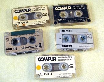Mix Tapes - Miniature Vintage Cassette Tapes - Job Lot of Mini Cassette Tapes - Small tapes - Tiny Cassette Tapes