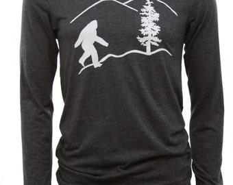 Bigfoot | Men's long sleeve T shirt | sasquatch | soft lightweight | Oregon T shirts