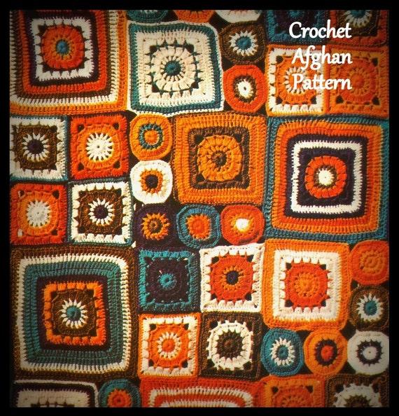 Mosaic Crochet Afghan Pattern : Crochet Mosaic Afghan Pattern PDF 01183470 by MsBobbies on ...