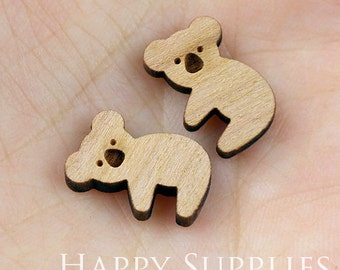 4pcs (SWC03) DIY Laser Cut Wooden Koala Charms