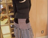 Skirt - Steampunk - Short Skirt - Overskirt - Burning Man - Patchwork - Shabby Chic - Bohemian Gypsy - Sexy - Ruffles - Size Medium
