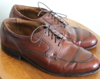 FREE SHIPPING Men's Florsheim Brown Leather Dress Shoes size 8E