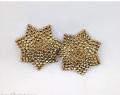 ON SALE RTW Gold 7 Point Star Shaped Rhinestone Nipple Pasties - Size M - SugarKitty Couture