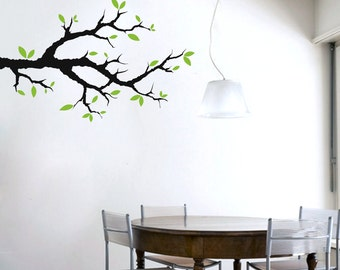 Tree Branch With Leaves - Trees and Branches Wall Decals