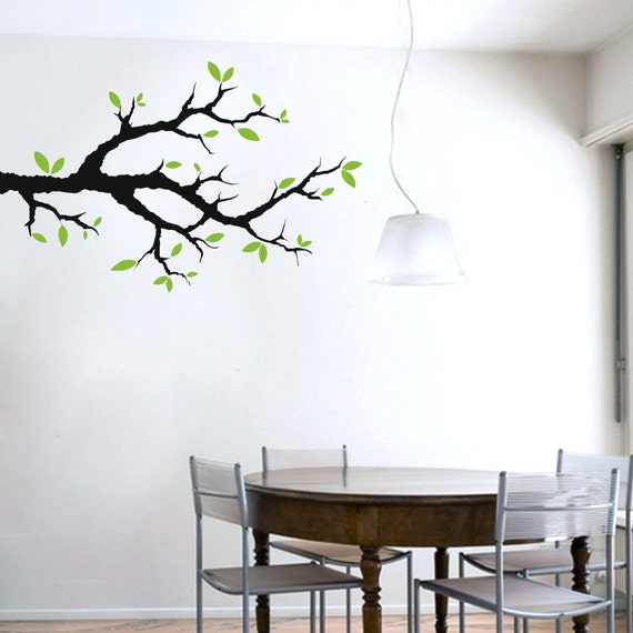 Tree Branch With Leaves - Trees and Branches Wall DecalsTree Branch With Leaves