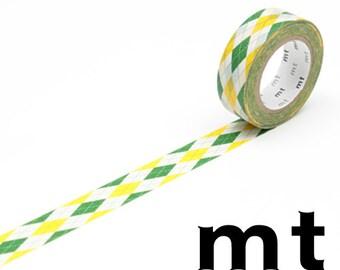 Argyle Green, Japanese mt Washi Paper Masking Tape, Journal Washi, Planner Washi, Card Decoration, Adhesive Tape, Collage, Cute Wrapping