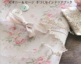 Peony & Sage Linen Handmade Interior Book - Interior Home Decorating- Japanese Craft Book - Sewing Patterns - Cushion, Coaster, Bag -  B1610