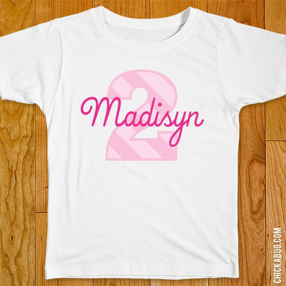 Pink Birthday Iron-On Shirt Design - Choose child or onesie size by ...