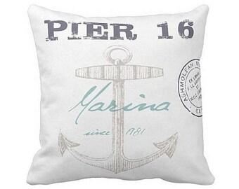 Pillow Cover Marina Pier 16