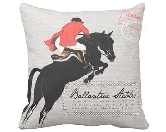 Pillow Cover Horse Decor Ballantrae Stables