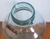 Large Molded Glass Pickle Jar