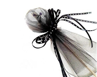 Wedding Favors Seed Bomb Favors 100 Black Tulle Favors or Your choice Colors Goth Wedding Favor Garden Favor