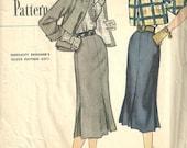 Simplicity 8361 / Vintage Designer Sewing Pattern / Skirt Jacket Blouse Suit / Size 16 Bust 34