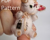 Micro miniature pig piglet bear e-pattern PATTERN PDF Penelope by Tatiana Scalozub