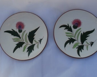 2 Stangl Thistle Bread and Butter Plates