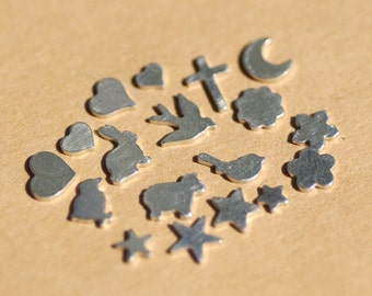 My MOST Super Tiny Sweet Variety Shapes Blanks 24g Cutout 24g Metalworking Soldering Stamping Texturing Blanks