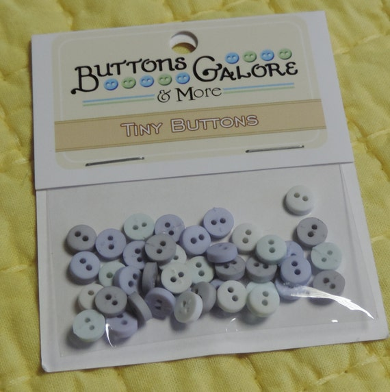 """Tiny Round Buttons, 2 Hole Packaged Buttons, """"Ice""""  Style #1352 by Buttons Galore. Sewing, Crafting Buttons, Embellishments"""