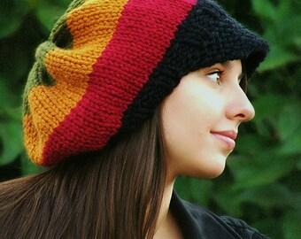 Knitting Pattern - Adult Rasta Hat pattern