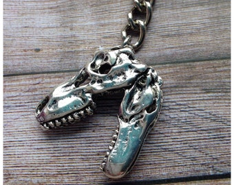 Dinosaur skull keychain Tyrannosaurus, T-Rex, Raptor, gift idea,