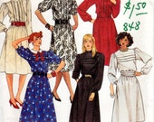 OOP 1980s Dress with Tucks - Vintage Pattern McCall's 2658 - Bust 34 UNCUT FF