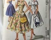 McCalls 3688 Halter Dress 1950s Summer Dress Vintage Sewing Pattern Bust 36
