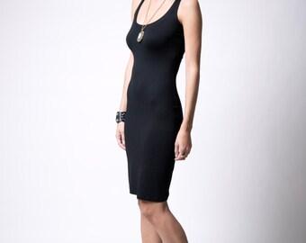 Black Tank Dress / Party Dress / Basic Tank Dress by Party Dress / Ponte Dress / marcellamoda - MD006