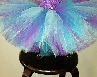 Purple, Aqua and Turquoise Tutu, Blue and Purple Tutu, Turquoise and purple Tutu, girls tutu, birthday tutu, flower girl tutu, mermaid tutu