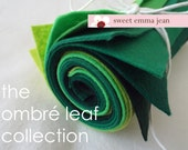 9x12 Wool Felt Sheets - The Ombre Leaf Collection - 8 Sheets of Felt
