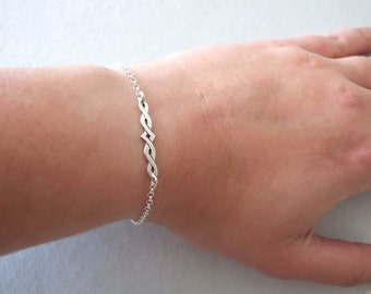 Delicate Celtic Bracelet - silver bracelet , celtic bracelet , celtic jewelry ,  gift for her , elvish bracelet , elvish jewelry , elven