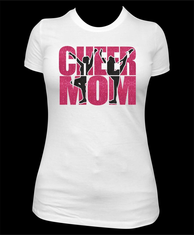 Custom Cheer Mom Tshirt Team Spirit Shirt Cheer Mom Bling
