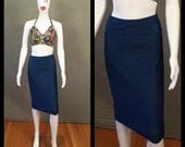 MADE TO ORDER Limited Edition Super Stretch Denim Pencil Skirt