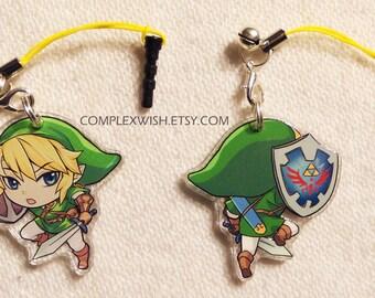 Reversible Legend of Zelda Charm - Link