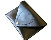 Metallic travel Purse, Passport case, travel wallet, leather case, heart, business card case, leather bag