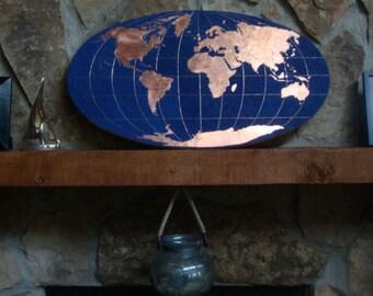 Sold Mosaic Precious World Nautical Map