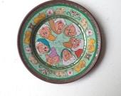 Disney antique collectible SEVEN DWARFS tea plates