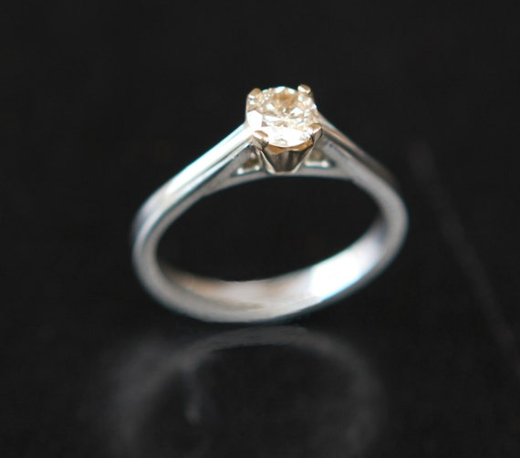 Natural .35ct SI3 Diamond Solitaire Engagement Ring In 14K gold and Argentium Stering Silver